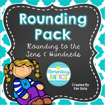 Rounding to Nearest Ten & Hundred Worksheets and Task Cards