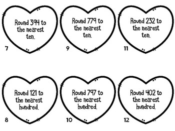 Rounding to Nearest Ten and Hundred SCOOT Valentine Edition