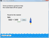 Rounding to Powers of Ten Game: Rounding Whole Numbers Computer Game--Blast Off