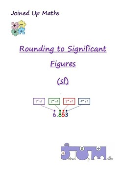Rounding to Significant Figures by Joined Up Maths | TpT