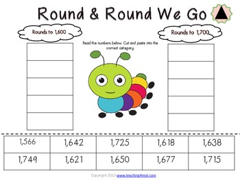 Rounding to Tens, Hundreds, & Thousands Sorting Activity