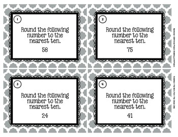 Rounding Task Cards (Nearest Ten)
