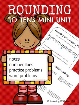 Rounding to Tens Using Number Lines and Word Problems