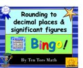 Rounding to decimal places & significant figures Bingo! ga
