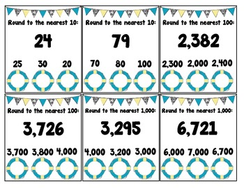 Rounding to nearest 10, 100, or 1,000 POKE Activity COMMON CORE ALIGNED 3.NBT.1