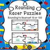 Rounding Number Line Puzzle Round to the nearest 10 & 100 -Rounding Game 3.NBT.1