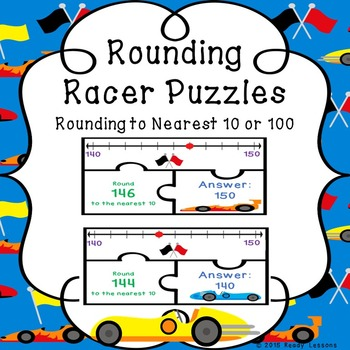 Rounding Number Line Round to the nearest 10 & 100 Place Value Game 3.NBT.1