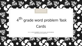 Rounding to nearest ten task cards