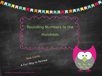Rounding to the 100 Task Cards