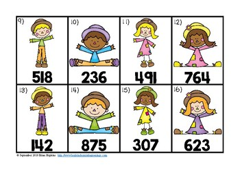Rounding to the Hundred's Place Scarecrow Task Cards
