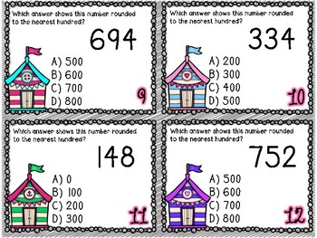 Rounding to the Hundreds Place Task Cards