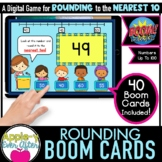 Rounding to the Nearest 10   0 - 100 Math Game   Boom Card