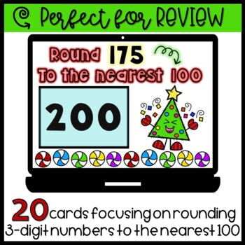 Rounding to the Nearest 10 & 100 Boom Cards Bundle