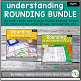 Rounding to the Nearest 10 & 100 Bundle {Theme Booklet & Task Cards}