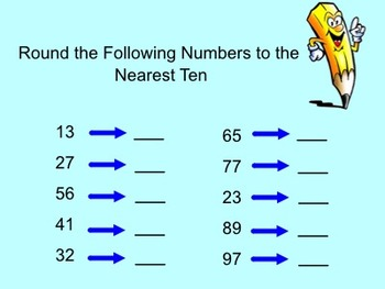 Rounding to the Nearest 10-Smartboard Activity