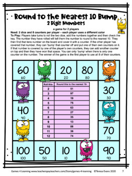 Rounding To The Nearest 10 Game & Worksheets | Teachers ...