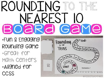 Rounding to the Nearest 10 > Board Game