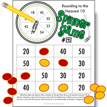 Rounding to the Nearest 10 Spinner Games