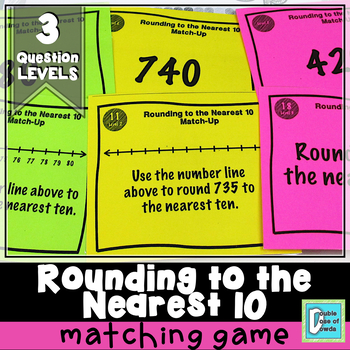 Rounding to the Nearest 10 Matching Game