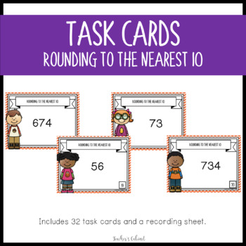 Rounding to the Nearest 10 {Task Cards}