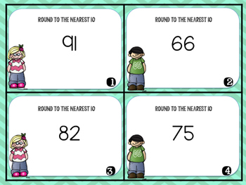Rounding to the Nearest 10 Task Cards