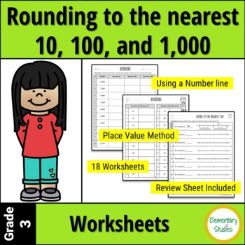 Rounding to the Nearest 10 and 100 Worksheets and Game