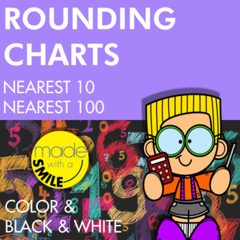 Rounding to the Nearest 10 and 100 Charts for Students
