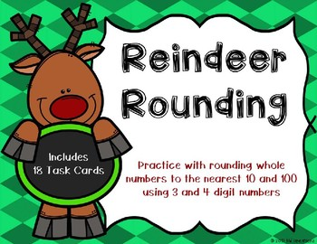 Rounding to the Nearest 10 and 100 {Christmas Theme}