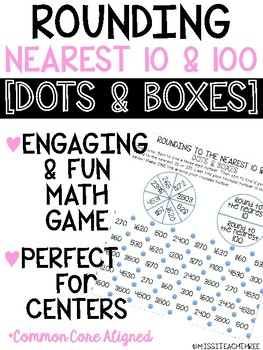 Rounding to the Nearest 10 and 100 DOTS AND BOXES || MATH GAME
