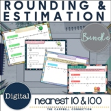 Rounding to the Nearest 10 and 100 Digital Bundle