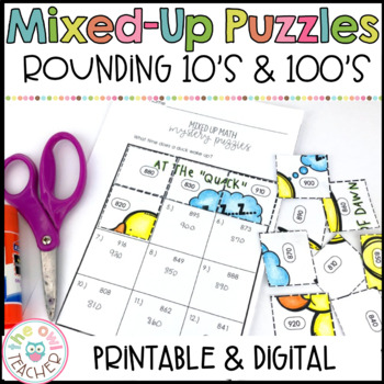 Rounding to the Nearest 10 and 100 Mixed Up Math Puzzles
