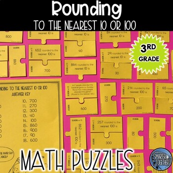 Rounding to the Nearest 10 and 100 Puzzle Activity