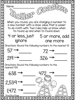 Rounding Puzzles and Printables