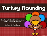 Rounding to the Nearest 10 and 100 {Thanksgiving}