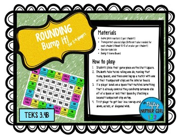 Rounding to the Nearest 10 or 100 Bump it! TEKS 3.4B