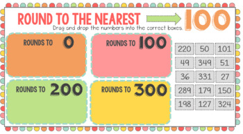 Rounding to the Nearest 10 or 100 - Practice or Assessment