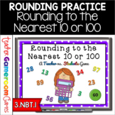Rounding to the Nearest 10 or 100 - Teacher vs. Student PPT Game