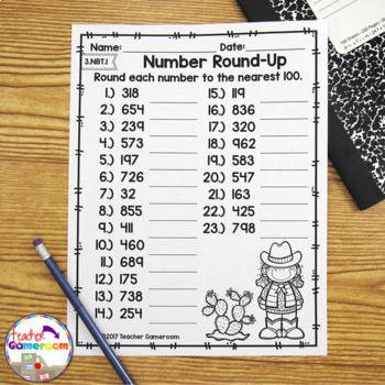 Rounding to the Nearest 10 or 100 Worksheet