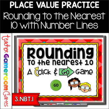 Rounding to the Nearest 10 with Number Lines Powerpoint Game