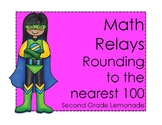 Rounding to the Nearest 100 Math Relay