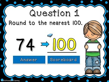 Rounding to the Nearest 100 Powerpoint Review Game