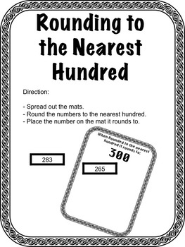 Rounding to the Nearest 100- Sorting Activity 3rd Grade- Math Center