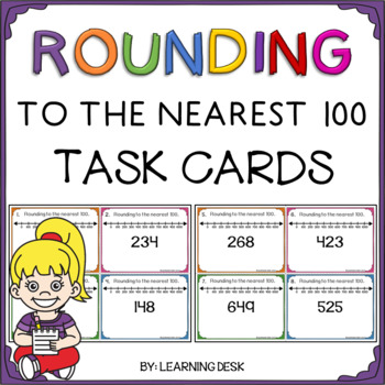 Rounding to the Nearest 100 (Task Cards)