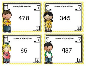 Rounding to the Nearest 100 {Task Cards}