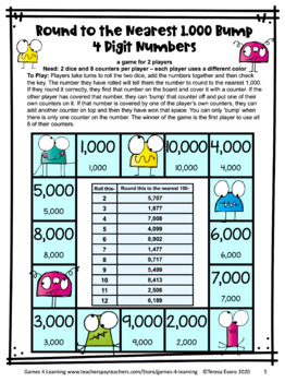Rounding Number Games: Rounding to the Nearest 1000 Rounding Games