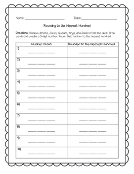 Rounding to the Nearest Hundred Freebie