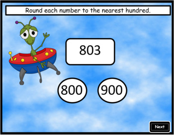 Rounding to the Nearest Hundred ~ Interactive PPT Game