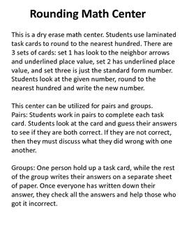 Rounding to the Nearest Hundred Math Center