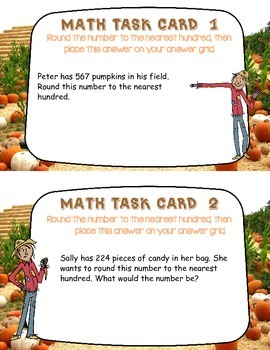 Rounding to the Nearest Hundred Task Cards:Review, Practice, or Homework