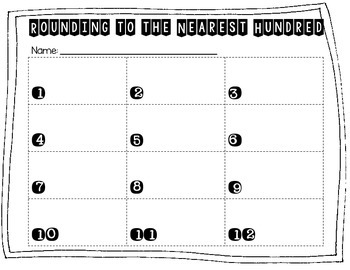Rounding to the Nearest Hundred with Four Digit Numbers